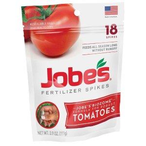 Jobe's Organics 3.9 oz. Tomato Plant Food Fertilizer Spikes with Biozome (18-Pack)