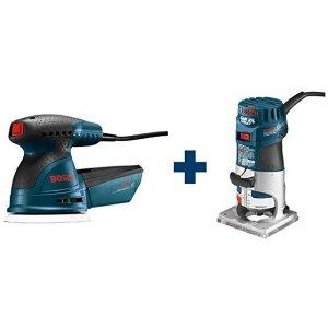 Bosch 手持磨砂器+修边开槽器 木工爱好者必备