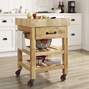 低至4.7折Walmart 精选厨房中岛小橱柜、移动小推车热卖