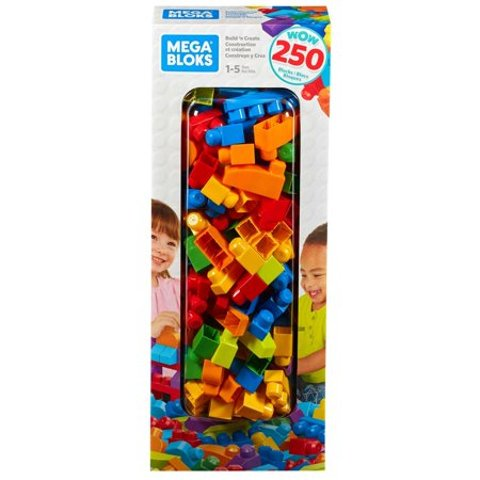 Mega Bloks 大颗粒幼童积木,250粒盒装
