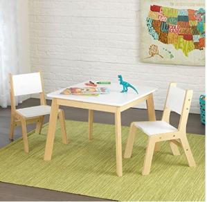 销量冠军+史低价 $49.99(原价$169.99)KidKraft Modern 木质儿童桌椅3件套