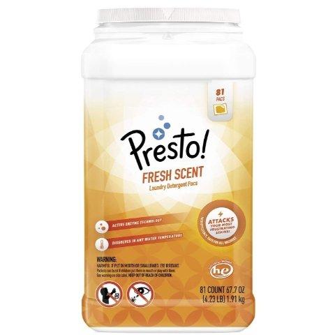 Presto! 亚马逊自营品牌 去渍果冻洗衣球 81颗 清新香味