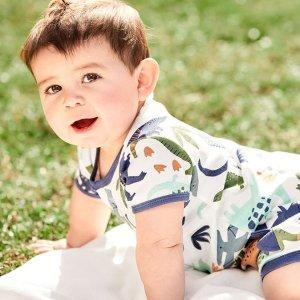 低至$6 (原价$16) 清凉好价折扣升级:Carter's官网 婴儿短版连体爬服3.1折起热卖,夏季必备款
