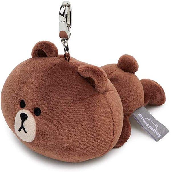 布朗熊 趴趴钥匙链