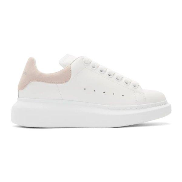 烟粉尾小白鞋