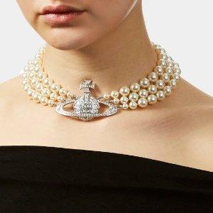 爆款三层项链罕见有货!快抢!Vivienne Westwood 虞书欣同款珍珠项链补货 超难买!