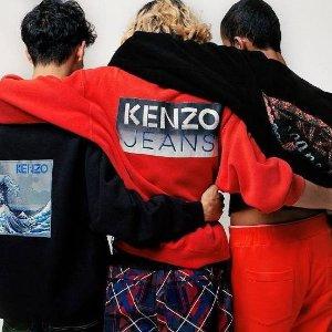 额外7折独家:Kenzo 男女士潮衣热卖 虎头卫衣$188,logo T恤$49