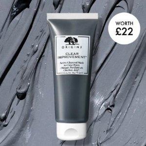 订单满£30赠封面活性炭面膜(£22)Origins 油痘肌真爱品牌 咖啡面霜、菌菇水收起来