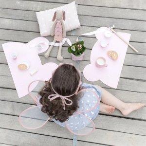 小熊餐垫 粉色