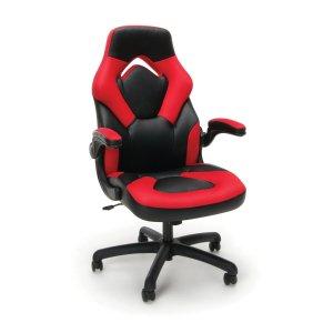 $68.84(原价$89.99)Essentials by OFM 赛车风格 皮质游戏椅