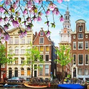 现价£69/人起(原价£137.5)阿姆斯特丹精选自由行热促 含机票酒店