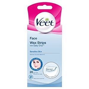 Veet Face Ready To Use Wax Strips for Sensitive Skin