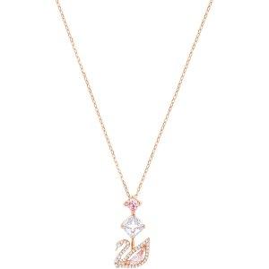 Swarovski粉水晶天鹅项链