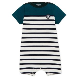 Petit BateauBaby Boy's Playsuit In Heavy Striped Jersey