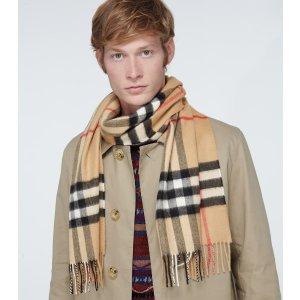 Burberry经典羊绒围巾