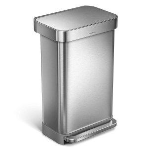 闪购:simplehuman 脚踩式不锈钢厨房垃圾桶 垃圾桶中的战斗机