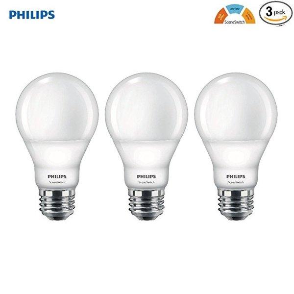 可调节色温LED节能灯泡 3只装