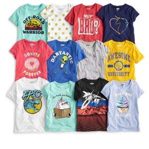 买1送2+包邮即将截止:OshKosh BGosh官网 儿童T恤Doorbuster 特卖