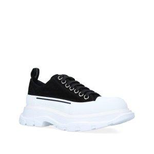 Alexander McQueen美国定价$650新款厚底小白鞋