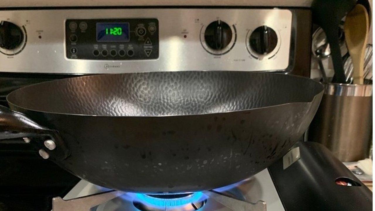 给熟铁锅开锅