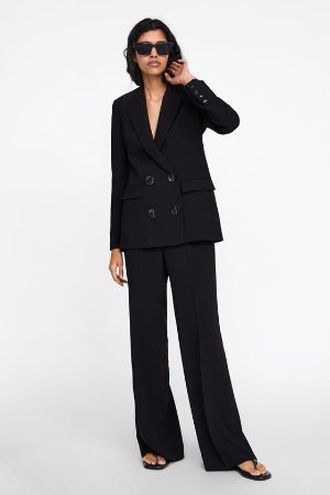FLOWY WIDE LEG PANTS - SUITS-WOMAN | ZARA United States