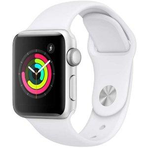 史低价:Apple Watch Series 3 38mm 智能手表 黑白两色可选