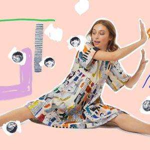 低至4折 $39收T恤Gorman 精选夏日涂鸦风衣裙热卖