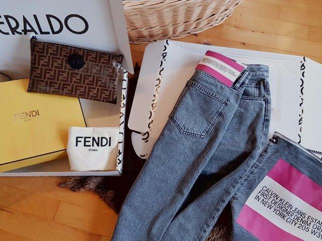 新买的Fendi包到了!奢侈品网站...
