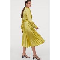 H&M 缎面丝绸半身裙