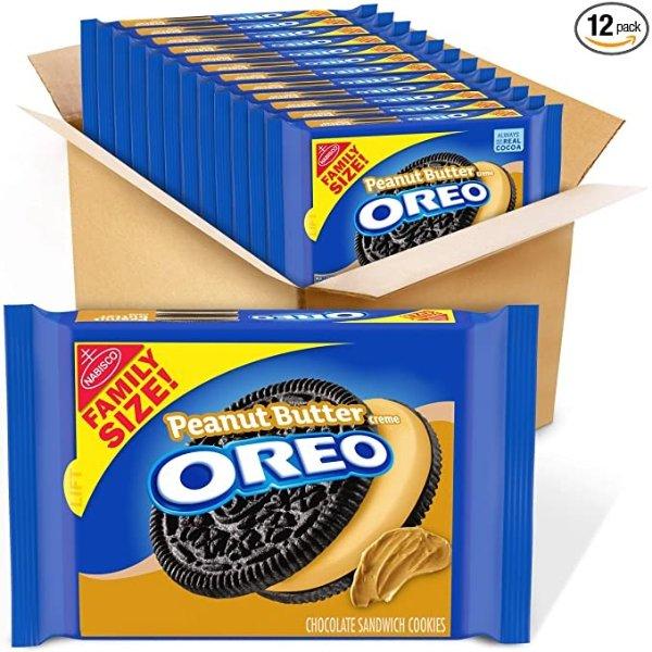 花生酱奶油奥利奥饼干 17oz家庭装 12盒