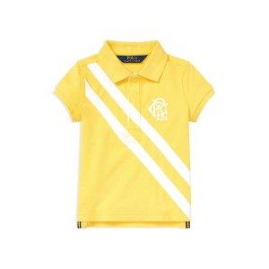 Polo Ralph LaurenGirls' Stretch-Mesh Polo Shirt - Little Kid
