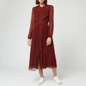 Whistles红色豹纹长裙