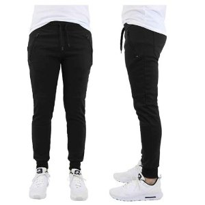 买1送1 一条不到$10白菜价:Slim-Fit French Terry男款休闲运动裤促销