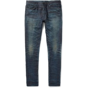 - The Cast 2 Skinny-Fit Distressed Denim Jeans