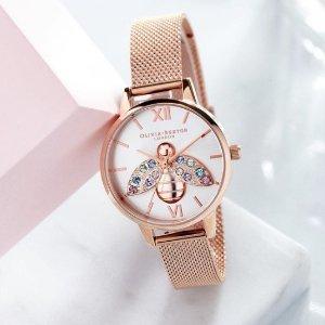 4折起+满减£75 £70就收Olivia Burton 早春大促 新款绝美手表超低价