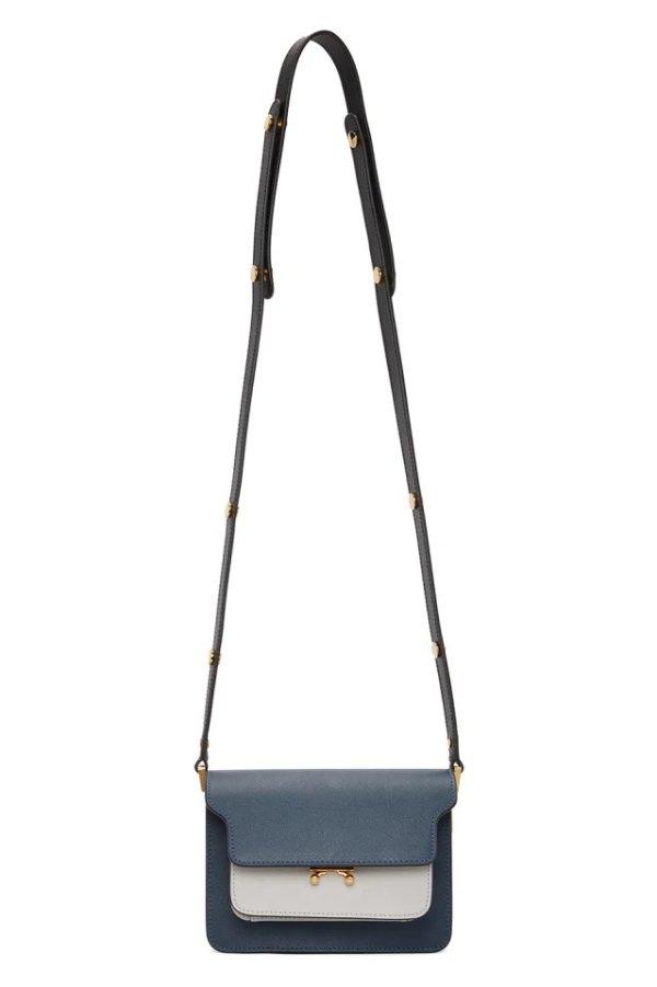 Blue & Black mini 风琴包