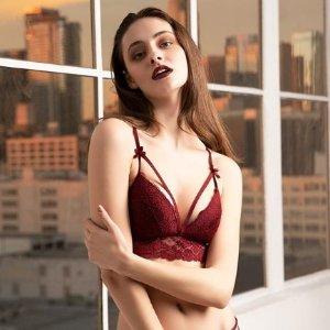 低至3折 $39收精美蕾丝内衣套装Eve's Temptation 精选配套蕾丝内衣大促