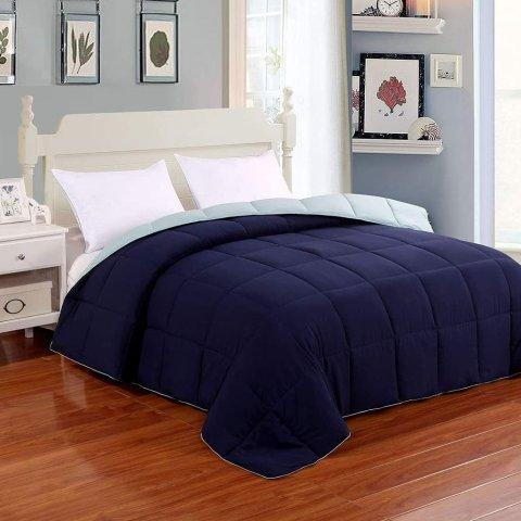 Homelike Moment Reversible Lightweight Comforter, Queen/Full