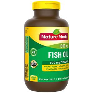 $12.13Nature Made 鱼油胶囊 1000 mg 250粒