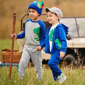 5折起+包邮 格子衬衫$24Gymboree 男童帅气合集 小恐龙毛衣$25、万圣节南瓜毛衣$34