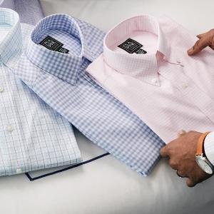 一律$14.99 低价收长短袖折扣升级:JoS. A. Bank 男士衬衫大促 防皱防汗 通勤必备