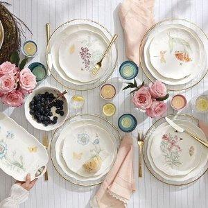 额外7.5折Lenox 官网蝶舞花香系列餐具热卖