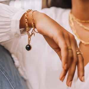 无门槛7.5折即将截止:Missoma 全场大促 收时尚博主最爱硬币项链、小方绿宝石