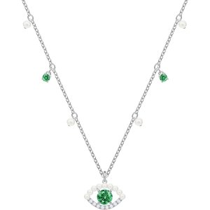 SwarovskiLuckily Necklace, Green, Rhodium plating by SWAROVSKI