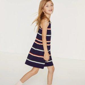 LacosteGirls' Colorblock Cotton Pique Dress