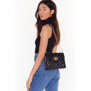 Nasty GalWANT Quilt Playin' Games Faux Leather Crossbody Bag | Shop Clothes at Nasty Gal!