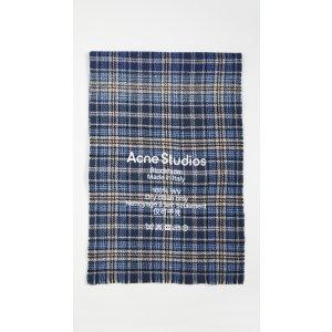 Acne Studios格子围巾