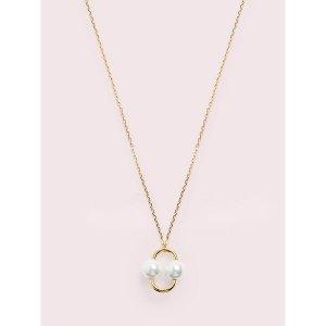 Kate Spade珍珠圆环项链