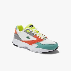 LacosteWomen's Storm 96 LO Mesh and Leather Trainers