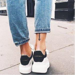 再降!低至4.3折 小白鞋$449Alexander McQueen 运动鞋特卖 厚底设计穿出大长腿